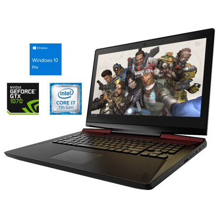 "Lenovo LEGION Y920 Notebook, 17.3"" FHD Display, Intel Core i7-7820HK Upto 3.9GHz, 16GB RAM, 128GB NVMe SSD + 1TB HDD, GTX 1070, HDMI, DisplayPort, Card Reader, Wi-Fi, Bluetooth, Windows 10 Pro"