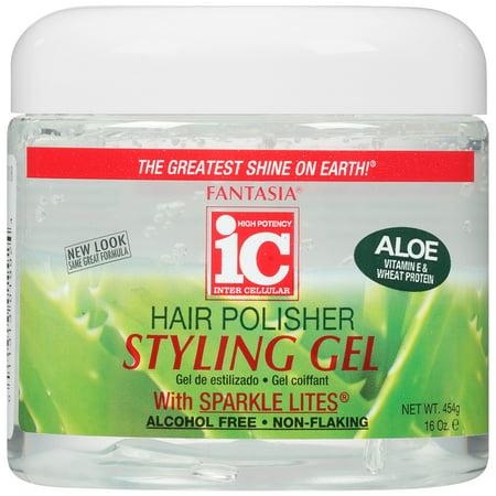 Styling Gel 16 Oz Jar (Fantasia w/Sparkle Lites & Aloe Hair Polisher Styling Gel, 16)