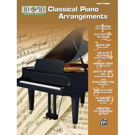 10 for 10 Sheet Music: 10 for 10 Sheet Music Classical Piano Arrangements: Piano Solos (Paperback) Classical Soprano Sheet Music