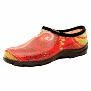 Sloggers Womens Garden Shoe Paisley Size 10 Red