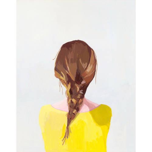 Oopsy Daisy - Braid - Auburn Canvas Wall Art 18x24, Elizabeth Mayville