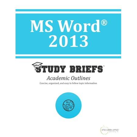 MS Word ® 2013 - eBook