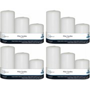 Mainstays 3-Pack Mini Pillars, Unscented, Set of 4