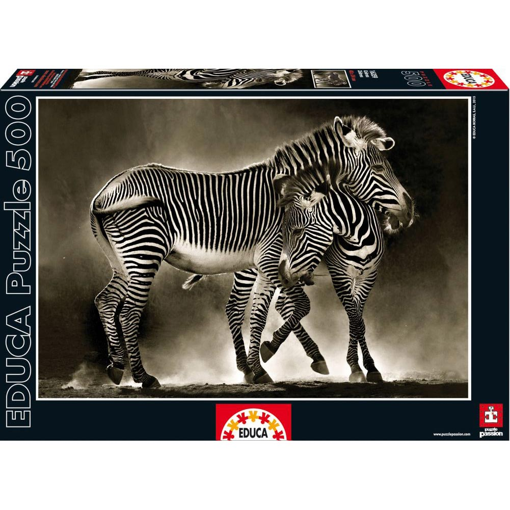 Zebras 500 Piece Puzzle,  Wildlife by John N. Hansen