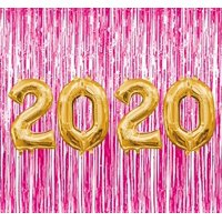 PMU Graduation 2020 Gold Balloons with Magento Curtain Backdrop Party Kit Decorations Pkg/1