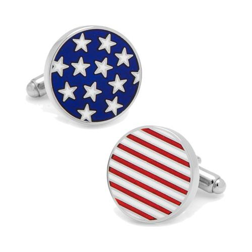 Men's Cufflinks Inc Stars Stripes American Flag Cufflinks