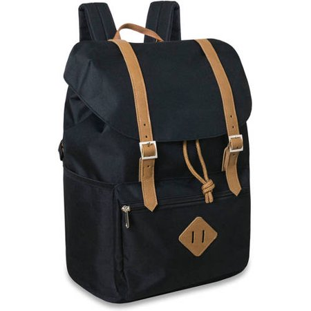 e5a9fc73c2 Generic 17 Inch Double Buckle Flap Backpack - Walmart.com