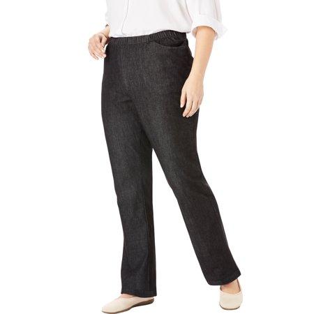 Woman Within Plus Size Petite Bootcut Fineline Jean