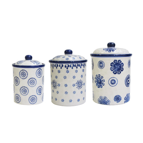 american atelier weber 3 piece kitchen canister set