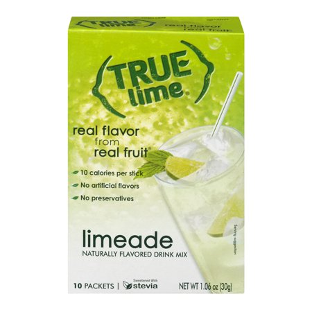 (2 Pack) True Lemon Drink Mix, 1.06 Oz, Limeade, 10 Packets, 1 Count ()