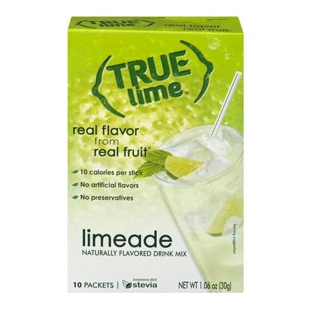 (2 Pack) True Lemon Drink Mix, 1.06 Oz, Limeade, 10 Packets, 1 Count