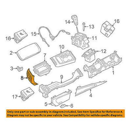 (Dodge CHRYSLER OEM 11-15 Durango Center Console-Rear Panel Trim 1TL281X9AA)