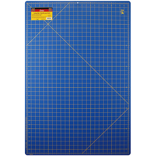 "Self-Healing Gridded Cutting Mat, 24"" x 36"" Blue"