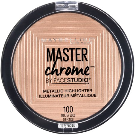 Galaxy Make Up (Maybelline Facestudio Master Chrome Metallic Highlighter Makeup, Molten Gold, 0.24)