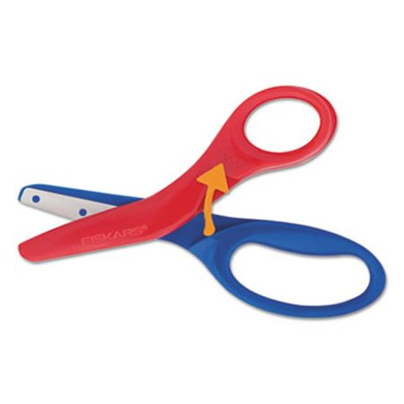 Fiskars Manufacturing 1949001001 5 in. Preschool Training Scissors, 1.5 in. Cut - Red & Blue