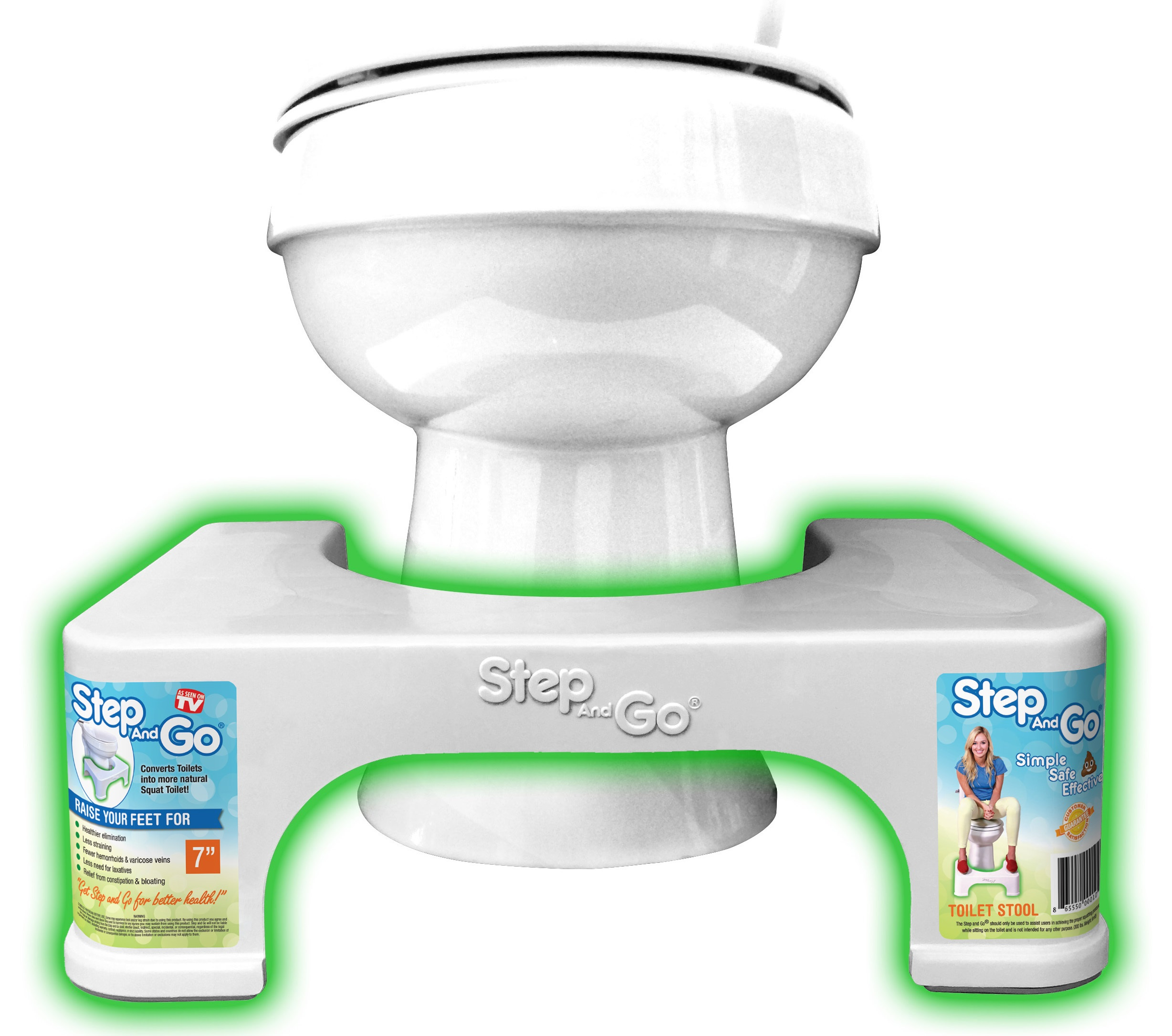 "Step and Go 7"" Plastic Toilet Stool by Step and Go Health LLC"