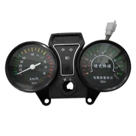 DC 48V 0-60km/h Electricity Indicator Speedometer Gauge for Motorcycle Scooter