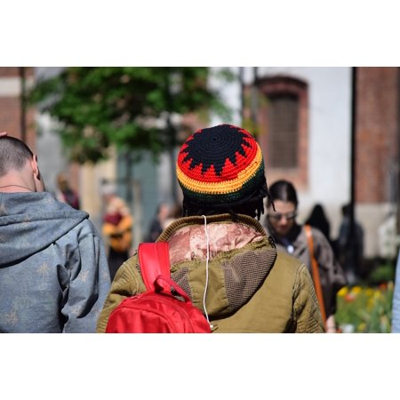 - LAMINATED POSTER Jamaica Head Rasta Guy Hat Colors Hair Poster Print 24 x 36