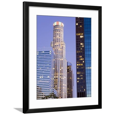 Us Bank Tower in Los Angeles, California, United States of America, North America Framed Print Wall Art By Richard