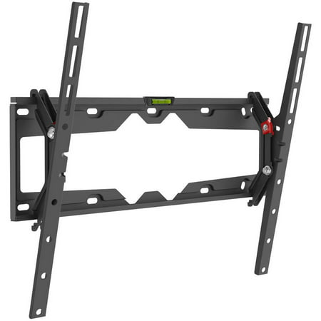 """- Barkan 29""""- 65"""" Tilt Flat / Curved TV Wall Mount, Auto-Locking Patented, Black, Up to 110 lbs, Lifetime Warranty."""