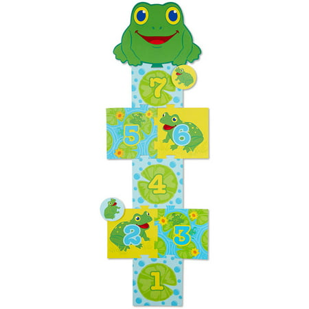 Melissa & Doug Sunny Patch Skippy Frog Hopscotch Action Game - 8 Foam Pads