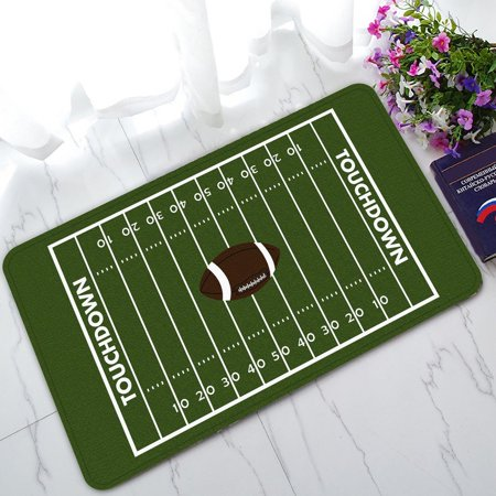 GCKG American Football Field Non-Slip Doormat Indoor/Outdoor/Bathroom Doormat 30 x 18 Inches