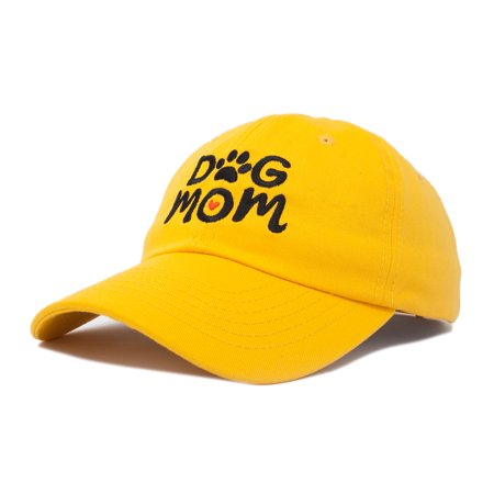 5e229a4fe4d770 DALIX - DALIX Dog Mom Baseball Cap Women's Hats Dad Hat in Gold -  Walmart.com