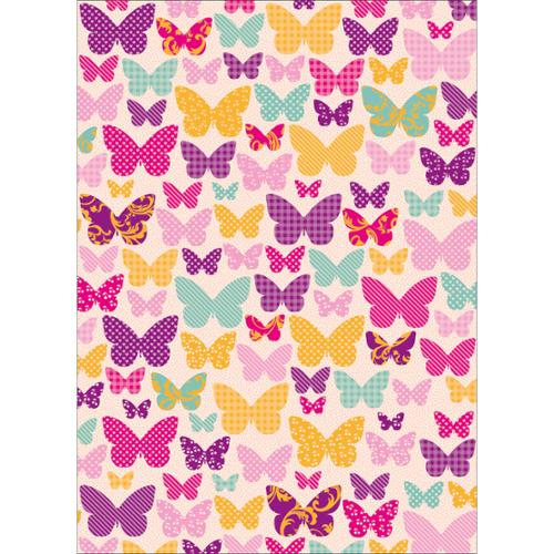 """Wrapping Paper 19.5""""X27"""" (495mm X 690mm)-Butterflies"""