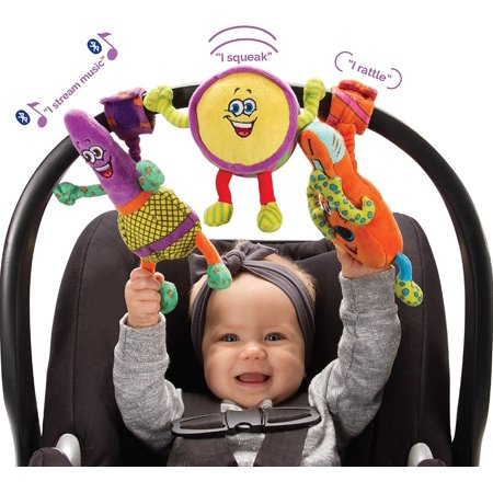 Lil Jammerz Set of 3 Plush Baby Toys with Bluetooth Speaker that Streams Music ()