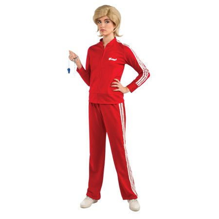 Sue Glee Red Adult Halloween Track Suit Costume - One Size for $<!---->