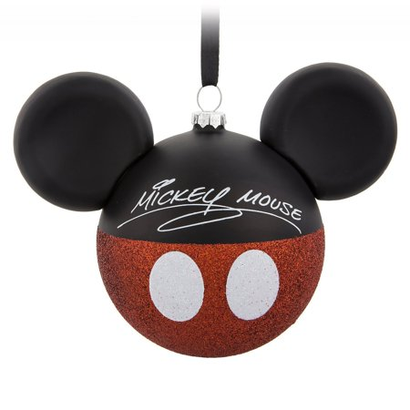 Disney Mickey Mouse Icon Christmas Ornament Shorts Glass Ear Hat New With Tag ()