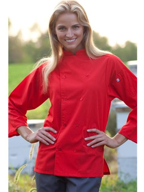 Vtex 0975-0103 Epic 3 By 4 Sleeve Chef Shirt, Black, Medium