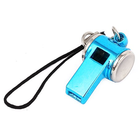 Unique Bargains Metal Whistle Pendant Lobster Clasp Nylon String Cell Phone Strap Sky Blue Heart Cell Phone Pendant