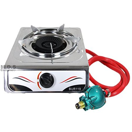 Steel Gas Burner - Stove Single Burner Propane Gas Stainless Steel Portable Camping Outdoor