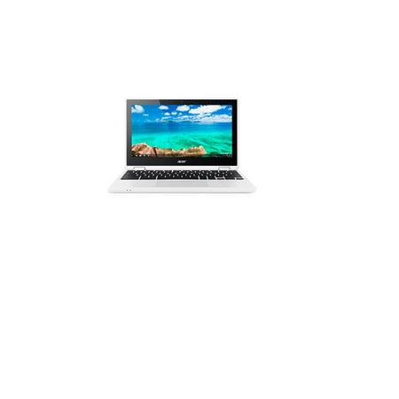 "Refurbished Acer Chromebook CB5-132T-C7R5, 11.6"" HD 1366X768 IPS Touchscreen, Intel N3160 Quad Core 1.60GHz, 4G DDR3L, 32G Flash Drive, AC WLAN, White, Google Chrome OS, 1 Year Warranty - image 1 of 1"