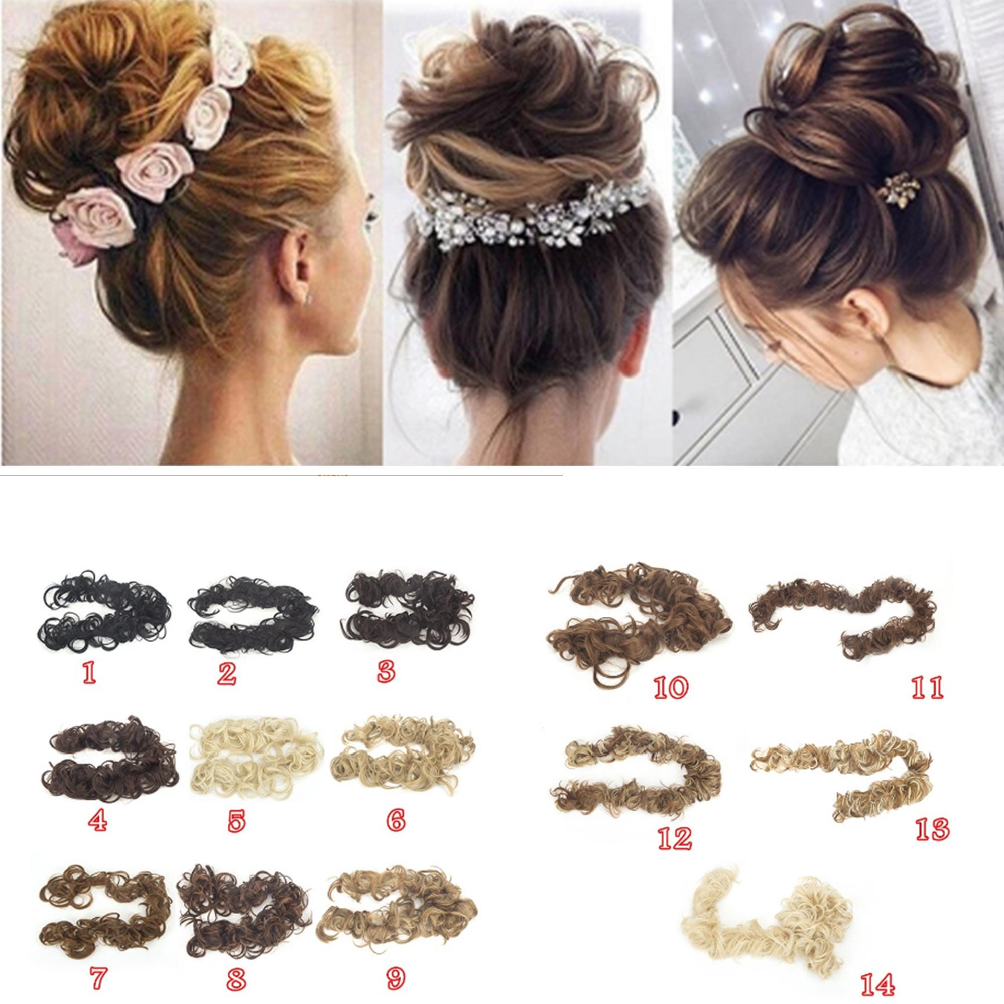 Wedding Fashion Hair Style Pony Tail Hairpiece Chignon Ponytail Hair