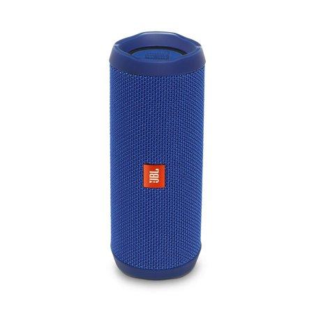 JBLB Flip 4 Waterproof Portable Rechargeable Bluetooth Wireless Speaker with Echo Cancelling Speakerphone, Blue (Open Box - Like New)