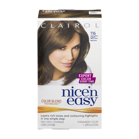 clairol nice n easy 116 natural light neutral brown permanent haircolor - Clairol Nice And Easy Hair Color