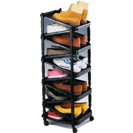a shoe rack shoe organizer go vertical save space. Black Bedroom Furniture Sets. Home Design Ideas