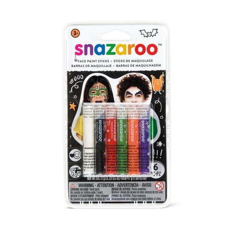 Face Paint Sticks (WINSOR & NEWTON / COLART 1172075 SNAZAROO HALLOWEEN FACE PAINT STICKS - SET OF)