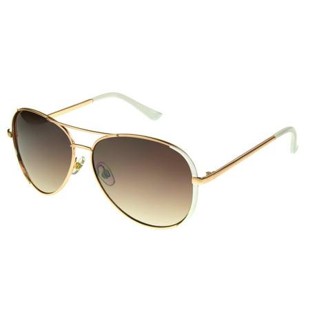 Foster Grant Women's Gold Aviator Sunglasses (Fake Aviators)