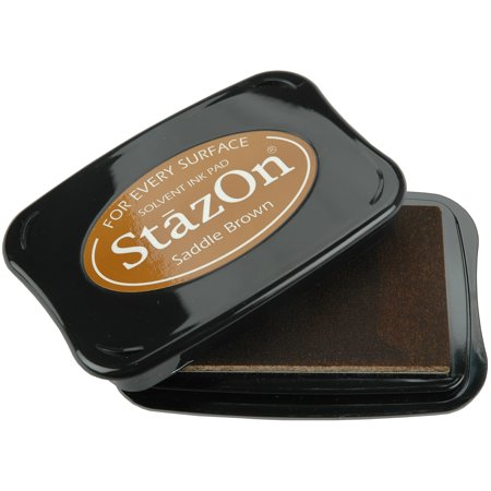- StazOn Solvent Ink Pad-Saddle Brown