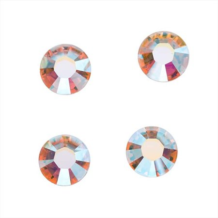 Swarovski Crystal, Round Flatback Rhinestone SS9 2.5mm, 72 Pieces, Crystal AB Foiled