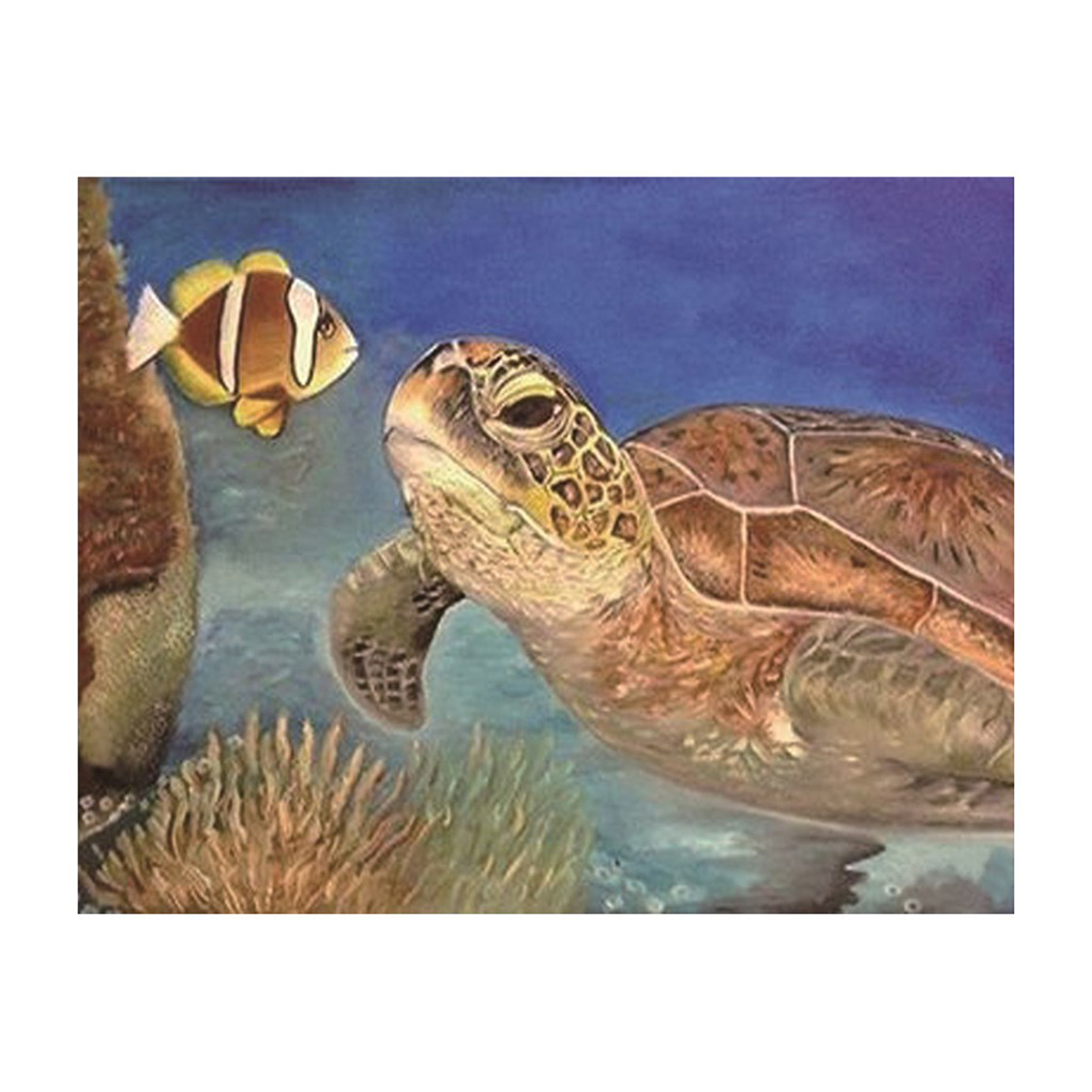 Sea Turtle Pattern 5D DIY Diamond Painting Home Decorative Cross Stitch Round Resin Crystal Embroidery Picture