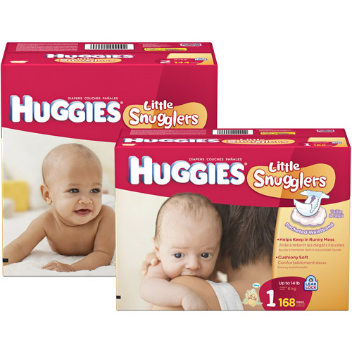 HUGGIES -  Little Snugglers Diapers (choose your size)