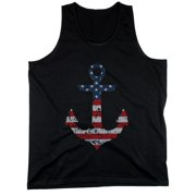 Red White Blue Anchor Design Printed Tank Top for Fourth of July Collection