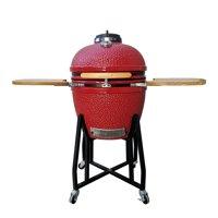 Vision Grills 1-Series Ceramic Kamado Grill, Red