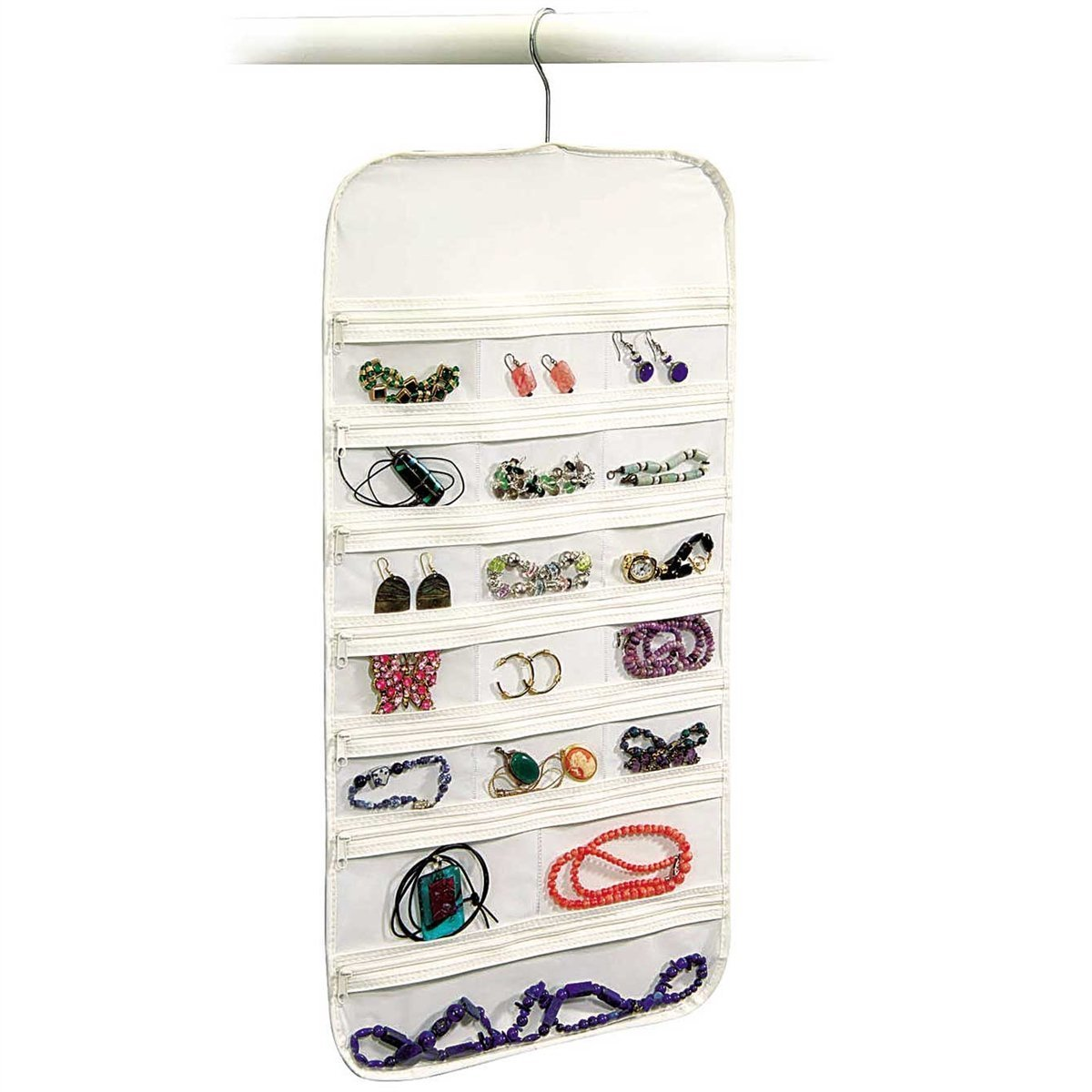 Hanging Jewelry Organizer Earring Ring necklace 37 Pocket Pouch