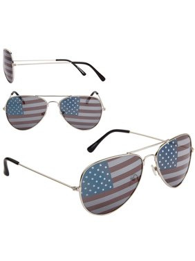 557e7615e901 Product Image American Flag Aviator Sunglasses USA July 4th Independence  Day Silver Frames