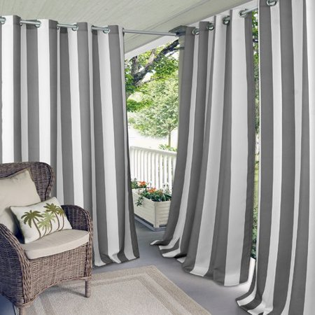 Breakwater Bay Humboldt Striped Grommet Single Curtain Panel ()